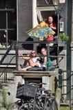 Gorący letni dzień w Amsterdam Zdjęcia Royalty Free