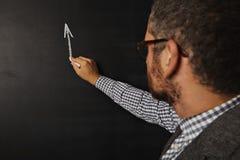 Gorący męski nauczyciel przy blackboard Zdjęcie Royalty Free