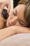 gorący masaż kamień Zdjęcia Royalty Free