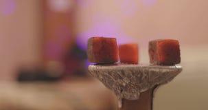 Gorący nargile węgle zamknięci w górę zbiory wideo