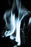 gorący płomienia biel Zdjęcie Royalty Free
