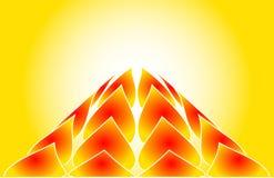 gorący płonący rising Obrazy Stock