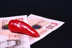 gorący pieniądze Fotografia Stock