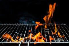Gorący Pusty węgla drzewnego BBQ fotografia stock