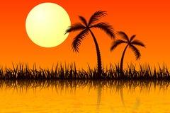 gorący słońce royalty ilustracja