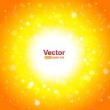 Gorący słońce i jaskrawi promienie ilustracji