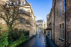 Gorący skąpanie w Gorącego skąpania ulicie, skąpanie, Somerset, UK obraz royalty free