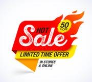 Gorący sprzedaż sztandar ilustracja wektor