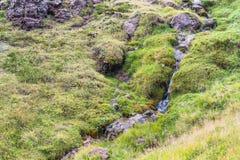 gorący strumień w Hveragerdi Gorącej wiosny Rzecznym śladzie Obraz Royalty Free