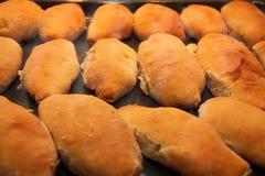 Gorący torty z dżemem na wypiekowej niecce Obraz Stock