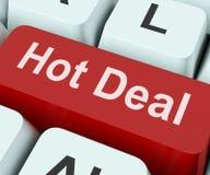 Gorący transakcja klucz Znaczy Zadziwiającą ofertę zdjęcia stock