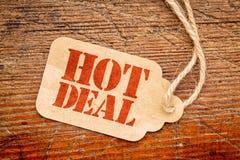Gorący transakcja znak na metce zdjęcia royalty free