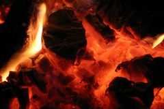 gorący węgiel Obraz Stock