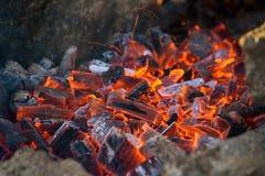 Gorący węgla drzewnego grill obrazy royalty free