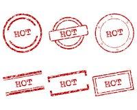 Gorący znaczki Obrazy Royalty Free