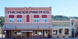 Gorączki złota miasteczko Custer w Czarnych wzgórzach Południowy Dakota zdjęcie royalty free