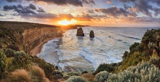 GOR 2 Apostles Wide Rise Royalty Free Stock Images
