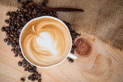 gorąca cappuccino kawa Obrazy Royalty Free