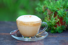 gorąca cappuccino kawa Fotografia Royalty Free