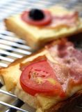 gorąca grillowany toast Fotografia Stock
