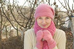 gorąca herbaciana kobieta Zdjęcie Royalty Free