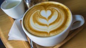 Gorąca Latte kawy sztuka Fotografia Royalty Free