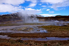 Gorąca wiosna Iceland Zdjęcia Royalty Free