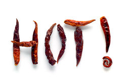 gorące chilies Zdjęcie Royalty Free