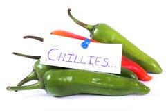 gorące chillies Obrazy Stock