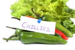 gorące chillies Zdjęcie Stock