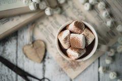 gorące czekoladowych pianki Zdjęcia Royalty Free