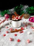 gorące czekoladowych pianki Zdjęcie Stock