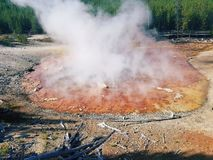 gorące geotermiczny basen Obraz Royalty Free