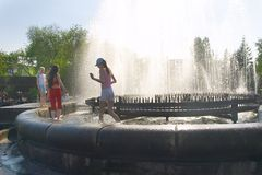 gorące lato miasta. Zdjęcia Royalty Free