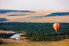 Gorące powietrze balon w Afryka Fotografia Royalty Free