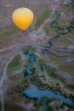 Gorące powietrze balon w Afryka Obraz Royalty Free