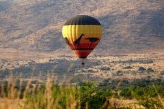 Gorące powietrze balon w Pilanesberg parku narodowym Zdjęcie Royalty Free