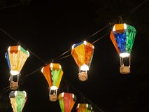 Gorące powietrze balonu festiwal, Lebuh Pantai, Georgetown, Penang fotografia stock