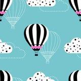 Gorące powietrze balonu wzór Zdjęcia Royalty Free