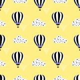 Gorące powietrze balonu wzór Obrazy Royalty Free