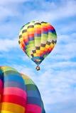 Gorące powietrze balony w locie Obrazy Stock