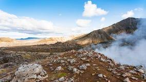 gorące wiosny blisko Laugahraun powulkanicznego lawowego pola Zdjęcia Royalty Free