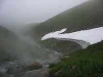 Gorące wiosny w Kamchatka Obrazy Stock