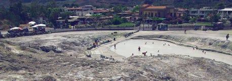 Gorące wiosny wulkan, Sicily Obrazy Stock