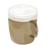 Gorącego cappuccino kawowa wektorowa ikona Zdjęcia Royalty Free