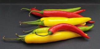 Gorącego chili pieprzu warzywa karmowi Fotografia Royalty Free