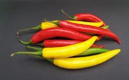 Gorącego chili pieprzu warzywa karmowi Fotografia Stock