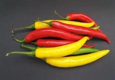 Gorącego chili pieprzu warzywa karmowi Obrazy Stock