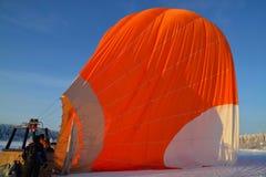 Gorącego powietrza latanie balonem w Finland Zdjęcie Royalty Free
