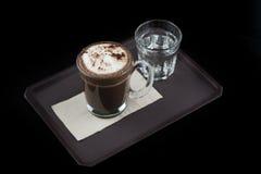 Gorącej czekolady kakao w szkle Zdjęcia Royalty Free
